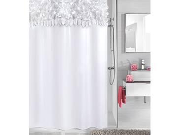 Kleine Wolke Textilgesellschaft Rideau de Douche, Fibres Synthétiques, Blanc, 200x180 cm