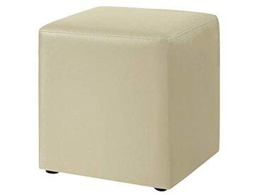 meise.möbel Cube capitonné Cube - Cuir synthétique - Beige