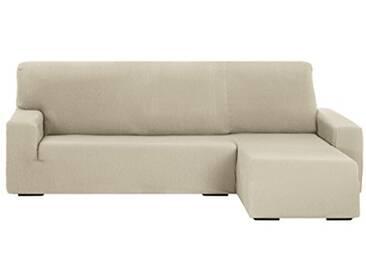 Martina Home Tunez Housse pour canapé avec Chaise Longue 32x 17x 42cm Bras Droit Court (vu de Face) 32x17x42 cm Blanc Ivoire
