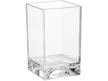 Kartell Boxy Porte-Brosses à Dents, Plastique, Transparent, 7 x 7 x 12 cm