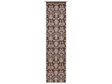 GARDINIA Panneau Japonais (1 Pièce), Opaque, Tissu Décoratif, Motifs Ornements, Brun, 60 x 245 cm (LxH)