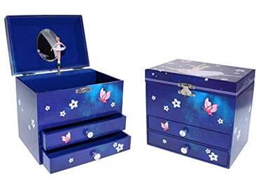 DOREX boîte à Bijoux Musical Danseuse Grande boîte en Carton Multicolore, Taille Unique