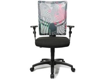 Topstar NX40PGC8 Zèbre Young Line Urban 10 Chaise de Bureau Noir/Rouge/Vert 48 x 48 x 110 cm