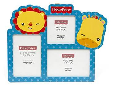 Fisher-Price Cadre Multi-Photos, Bois, 27 x 2 x 33,5 cm