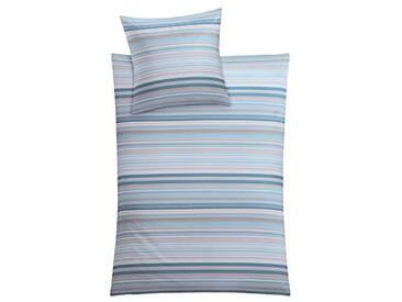Kleine Wolke Laine Parure de lit en Coton mako satiné Bleu, 200x 135cm, de 2unités