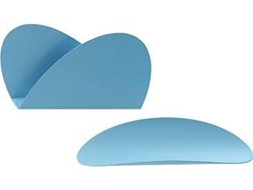 Alessi ABI09S LAZ Récipient, Acier, Turquoise, 4,00 x 29,00 x 21,50 cm, Set de 2