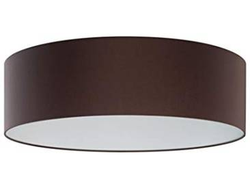 SHINE 16843 Plafonnier Tissu, E27, Gris/Marron, 60 x 60 x 27 cm