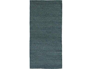 Jute & Co. Tapis Moquette, Dim. 70x 140cm, Couleur, 100% Coton, Bleu et Gris, Taille Unique