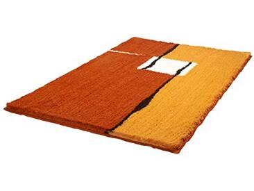 Kleine Wolke 5425334463 Malaga Tapis de Bain en Polyacrylique Orange/Rouge 65 x 105 cm