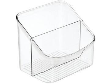 InterDesign Linus rangement cuisine, boite de conservation en plastique, organisateur cuisine à 2 compartiments pour emballages et épices, transparent