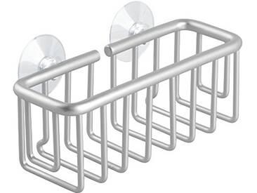 InterDesign 50766EU Metro Support à Éponge avec Ventouse pour Évier de Cuisine Aluminium Argent
