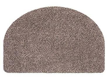 andiamo 700607 Paillasson Samson uni 50 x 80cm en Coton, Lavable à 30°C, Coton, Granite, 50x75 cm