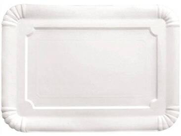 IBILI 729029 Plat Rectangulaire (5 Uds), Papier, Blanc, 30 x 39 x 1 cm