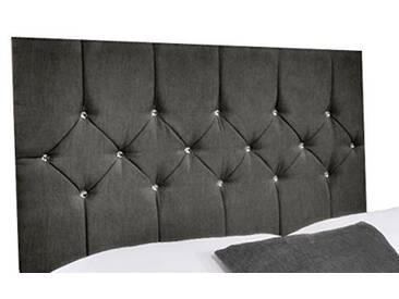 Interiors 2pour u Simple Belle en Chenille Diamante Cristal/tête de lit, 3m, Gris Anthracite