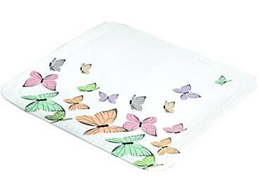 Kleine Wolke 4101148002 Butterflies Tapis de douche Coton Multicolore 55 x 55 x 2 cm