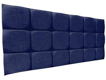 Interiors 2Combinaison U Alice Parure de lit capitonnée, Tissu, Bleu Nuit, 8x 120x 62cm