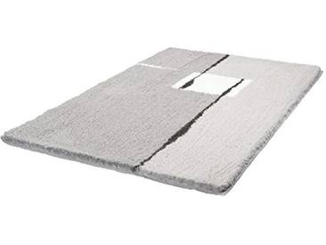 Kleine Wolke 5425977463 Tapis de bain Malaga 65x105 cm en platine Polyacrylique, 20x20x5 cm