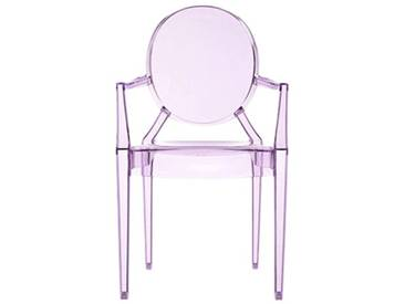 Kartell LOULOU GHOST Chaise lot de 4, violet