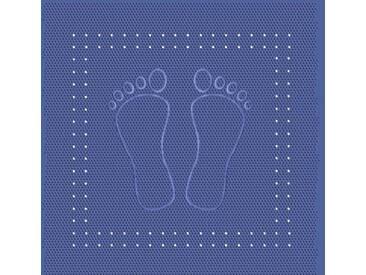Kleine Wolke 4388720002 Tapis de Douche Foot 55x55 cm en Bleu, PVC, 20x20x5 cm