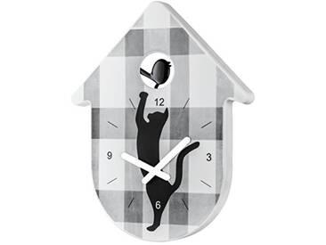koziol horloge murale Toc-Toc, thermoplastique, blanc et aiguille blanc, 2,7 x 24 x 30,5 cm