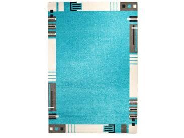 andiamo 1100319 Le Havre Tapis tissé avec bordure Turquoise 120 x 170 cm