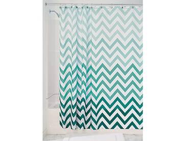 InterDesign Ombre Chevron rideau de douche textile, 183,0 cm x 183,0 cm rideau douche et baignoire en polyester, rideau avec motif en zigzag, vert