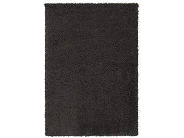 Lalee Tapis Shaggy Relax 40x60cm Décoration, 100% polypropylène, Noir