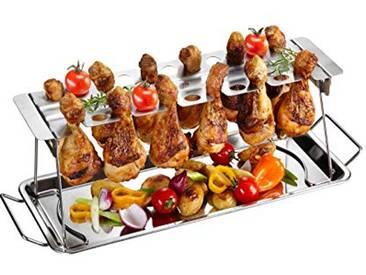 GEFU GE89259 Support pour Cuisses de Poulet Barbecue Acier Inoxydable Inox 43,5 x 15,8 x 15,5 cm