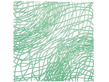 Koziol Silk Elément Décoratif, Plastique, Vert Menthe à Eau Transparent, 0,3 x 27,1 x 27,1 cm