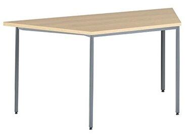Eliza Tinsley Furniture mod/1600T/GO 1600mm Forme trapézoïdale Versa Table en chêne avec Cadre Marteau Gris