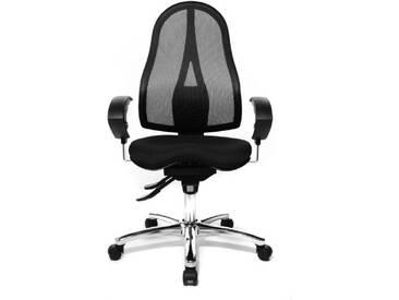 Topstar Fitness Fauteuil de bureau pivotant avec siège réglable Chaise de bureau Sitness 15 noir