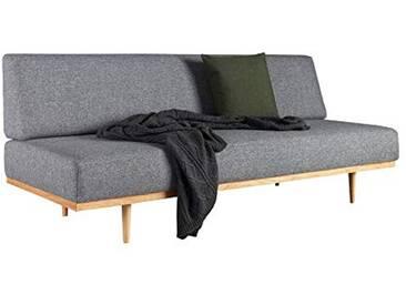 INNOVATION LIVING Canapé Design scandinave Vanadis Gris Twist_Charcoal Convertible lit 90 * 200 cm