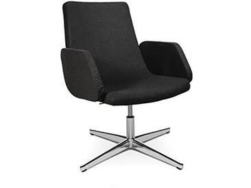 Topstar Loungesessel Sitness Lounge 20 mit Armlehnen/Bezug Anthrazit Fauteuil pivotant, Tissu, Anthracite, 60 x 63 x 98 cm