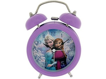 Disney Frozen Elsa et Anna Réveil pour Enfant en métal Multicolore 90 x 110 mm