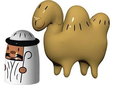 Alessi Amgi23set Amir & Camelus Set de deux Figurines en Porcelaine, decorées à la Main