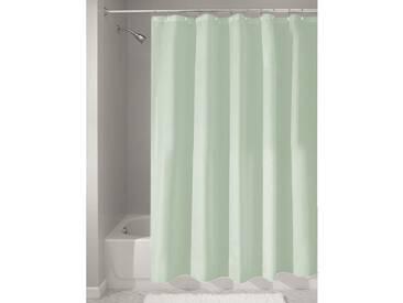 InterDesign rideau de douche tissu imperméable, 183,0 cm x 183,0 cm rideau douche en polyester, rideau textile lavable ourlet renforcé, vert marin