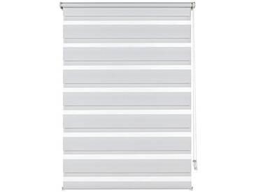 Gardinia Store double avec pince de fixation, Cordon de contrôle latéral, Store tamisant et occultant, Kit de Pose inclus, Blanc, 75 x 150 cm (L x H)