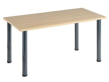 Eliza Tinsley Furniture T-MOD/1200/GO 1200x 800mm Table Versa en chêne avec Cadre Marteau Gris