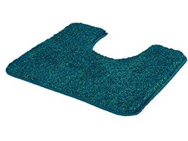 Kleine Wolke 4071663130 Seattle Tapis de Bain WC Polyester Bleu Pacifique 55 x 50 x 2 cm