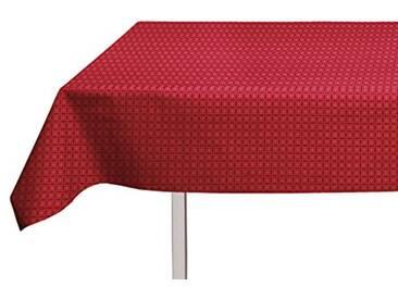 Soleil dOcre 857151 Nappe Toile Ciré Rectangle PVC Rouge 140x240 cm