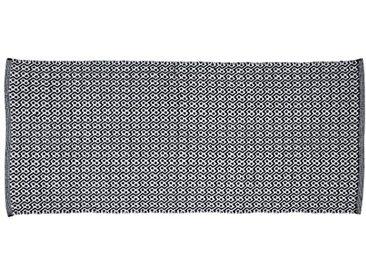 Jute & Co. Tapis Aspen Moquette, Couleur Dim. 60x 140cm, 100% Coton, Noir et Gris, Taille Unique