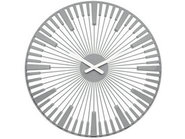 Koziol Horloge Mural Piano, thermoplastique, Gris, 3,2 x 45 x 45 cm
