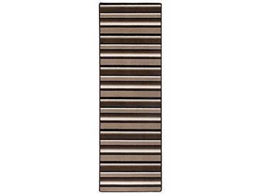andiamo Plano Läufer mit Streifen Tapis, Polypropylène, Beige/Marron, 65 cm x 133 cm