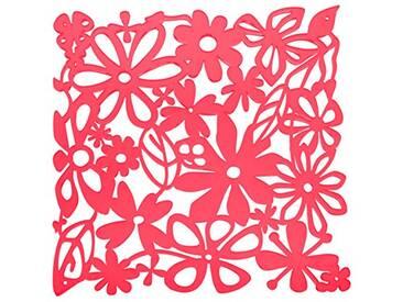 Koziol Paravent/Décoration Alice, Plastique, 27x 27cm, Plastique, Rouge Transparent, 0.3 x 27 x 27 cm