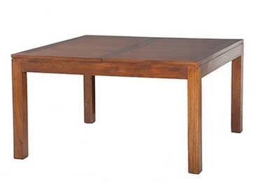 MACABANE Table à Manger carrée, Bois, 140 x 140 x 78 cm