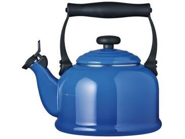 Le Creuset Bouilloire tradition en acier émaillé, bleu marseille