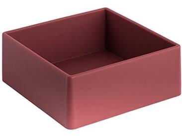 Geelli GFU-QUA-C80 Fusto Quadro Polyurethane, Red Wine, 20x20x8 cm
