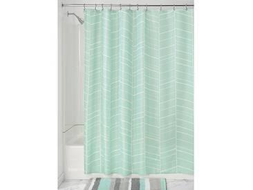 InterDesign Kylie rideau de douche, rideau baignoire 183,0 cm x 183,0 cm en polyester, rideau salle de bain lavable avec 12 œillets, menthe