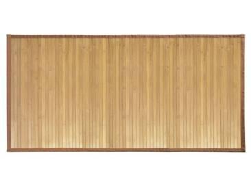 InterDesign Formbu tapis de sol antidérapant, grand tapis bambou, brun clair