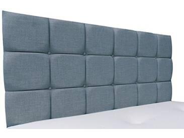 Interiors 2Combinaison U Alice Parure de lit capitonnée, Tissu, Bleu Canard, 8x 135x 62cm